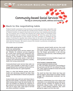Canada Social Transfer Community-Based Social Services