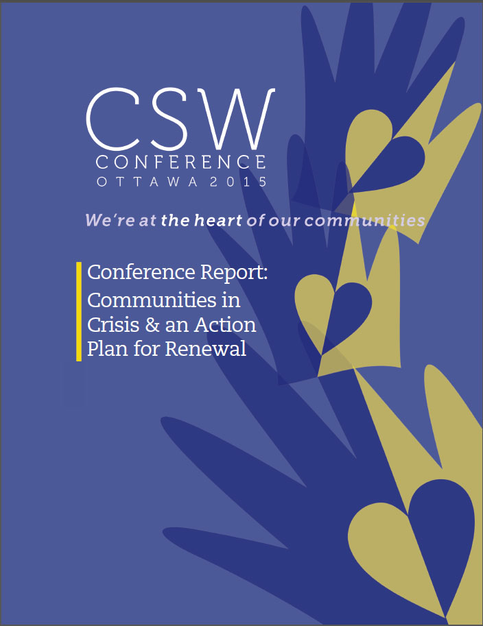 Community Service Workers Conference Report cover
