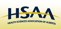 logo for the Health Sciences Association of Alberta (HSAA/NUPGE)