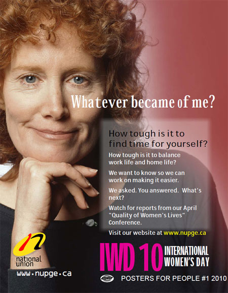 Download NUPGE poster for International Women's Day 2010