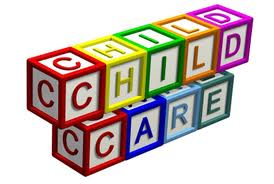 photo of childrens' building blocks reading child care