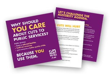 leaflets Why should you Care about cuts to public services