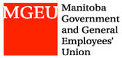 logo for the Manitoba Government and General Employees' Union (MGEU/NUPGE)
