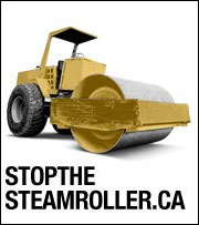 picture of an industrial steamroller