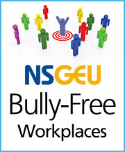 poster entitled NSGEU Bully-Free Workplaces