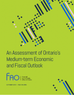 cover page of the Financial Accountability Office of Ontario