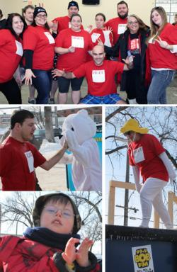 photos of MGEU/NUPGE Young Members committee at Polar Plunge