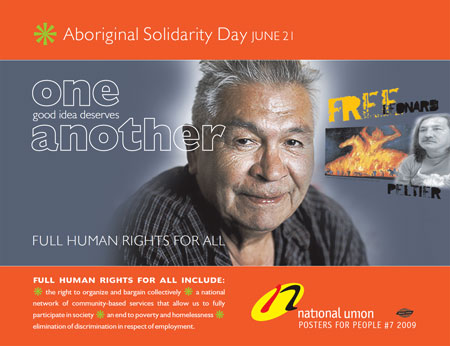 Download NUPGE Poster for Aboriginal Solidarity Day 2009
