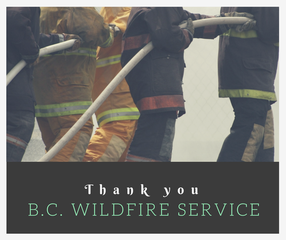 Thank you BC wildfire service