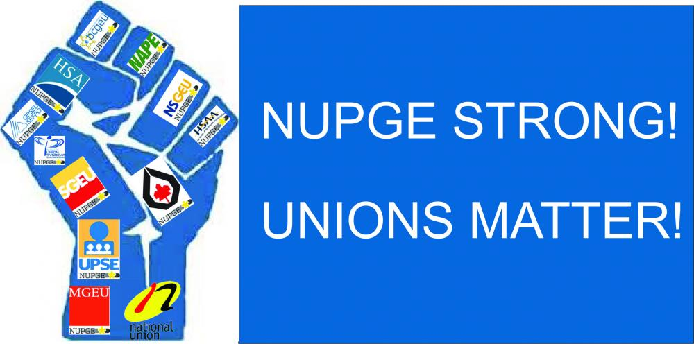 NUPGE Strong Banner