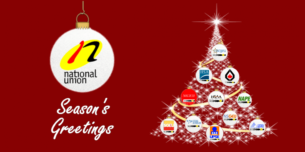 Season's Greetings from NUPGE and its components.