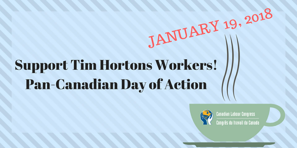 National Day of Action in sol with Tim Hortons workers