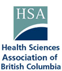 logo for the Health Sciences Association of B.C. (HSABC/NUPGE)