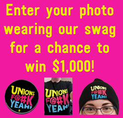 Enter your photo wearing our swag for a chance to win $1,000!