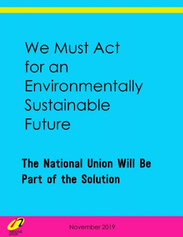 The National Union Will Be Part of the Solution