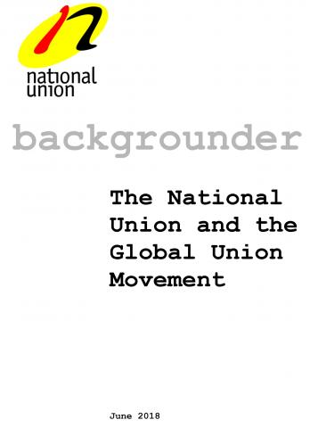The National Union and the Global Union Movement
