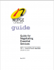 Guide to Negotiating Essential Services cover.